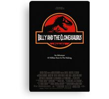 Billy And The Cloneasaurus Canvas Print