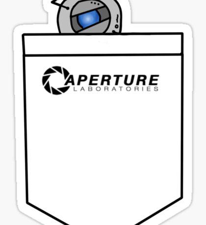 Tiny Wheatley in Pocket :3 [Portal] Sticker