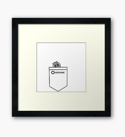 Tiny Wheatley in Pocket :3 [Portal] Framed Print