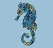 Blue Seahorse Art by Sharon Cummings Kids Clothes