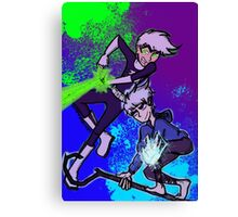 WHITE-HAIRED WONDERS Canvas Print