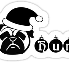 Pug Christmas, Bah humpug, Pug holiday Sticker