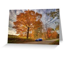 Coupe in the Fall Greeting Card