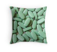 Green Pills Throw Pillow
