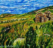 """In Silence Rich and Deep - Deserted Homesteads, Boneyclassagh Clachan, Dunluce, County Antrim""  by Laura Butler"