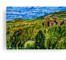 """In Silence Rich and Deep - Deserted Homesteads, Boneyclassagh Clachan, Dunluce, County Antrim""  Canvas Print"