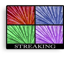 streaking 4xcolor Canvas Print