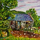 """Above Hallowed Ground - Cottage in Ruins, Ardclinis Townland, Antrim Coast"" by Laura Butler"