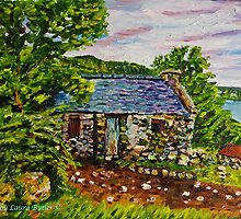 """""""Above Hallowed Ground - Cottage in Ruins, Ardclinis Townland, Antrim Coast"""" by Laura Butler"""