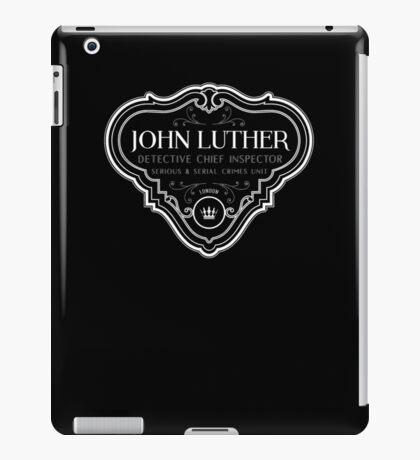 Luther - Badge - White Clean iPad Case/Skin