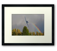 Rainbow Fury Framed Print