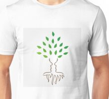 Faces forming the trunk and roots of a tree Unisex T-Shirt