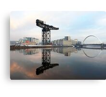 River Clyde reflections Canvas Print
