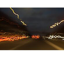 Driving at night can be fun Photographic Print