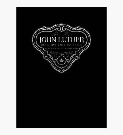 Luther - Badge - White Dirty Photographic Print