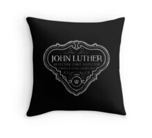Luther - Badge - White Dirty Throw Pillow