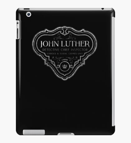 Luther - Badge - White Dirty iPad Case/Skin