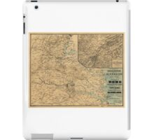 The Approaches from Washington to Richmond Civil War Map (1864) iPad Case/Skin