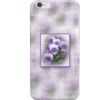 Pastel Pansies Three iPhone Case/Skin