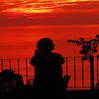 Taking pictures of the beautiful sunset at the eve of hurricane Jova by PtoVallartaMex