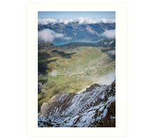 Lake Brienz from Faulhorn, Switzerland Art Print
