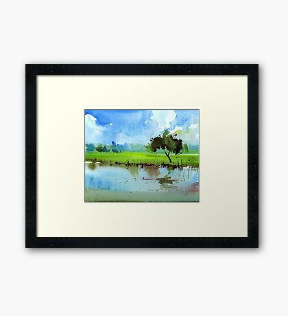 Sky N Farmland Framed Print