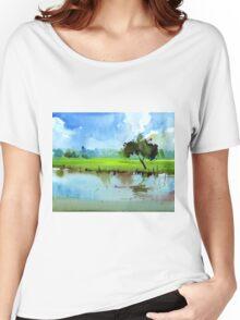 Sky N Farmland Women's Relaxed Fit T-Shirt