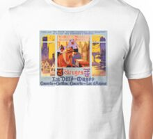 Bruges Vintage Travel Poster Restored Unisex T-Shirt