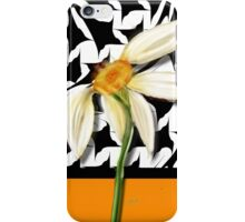 Daisy Houndstooth, by Alma Lee iPhone Case/Skin