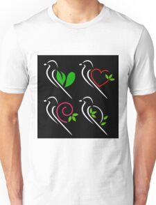 Abstract birds Unisex T-Shirt