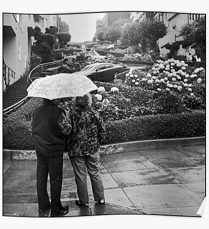 Lombard Street Rainy Day #2 Poster