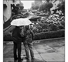 Lombard Street Rainy Day #2 Photographic Print
