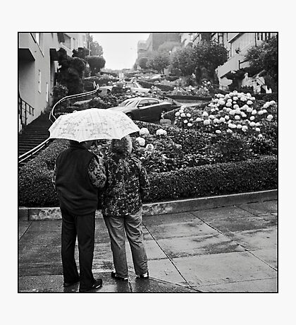 Lombard Street Rainy Day #2 Photographic Print