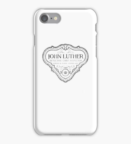 Luther - Badge - Black Dirty iPhone Case/Skin