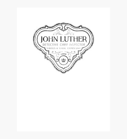 Luther - Badge - Black Dirty Photographic Print
