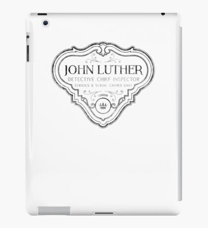 Luther - Badge - Black Dirty iPad Case/Skin