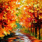 GOLD EXPANSE - LEONID AFREMOV by Leonid  Afremov
