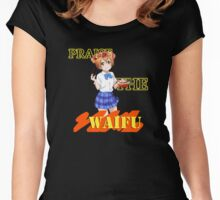 Rin - Praise the waifu Women's Fitted Scoop T-Shirt