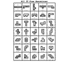 All 35 Free Hexominoes Photographic Print
