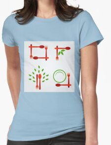 Organic cuisine artwork Womens Fitted T-Shirt
