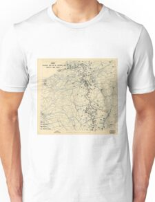 World War II Twelfth Army Group Situation Map November 18 1944 Unisex T-Shirt