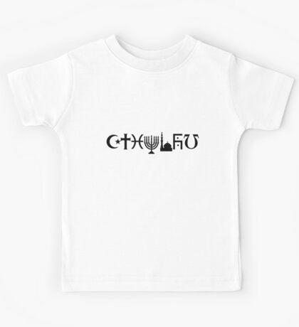 Cthulhu (black, sticker-friendly variant) Kids Tee