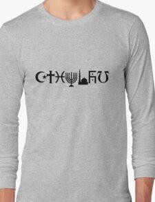 Cthulhu (black, sticker-friendly variant) Long Sleeve T-Shirt