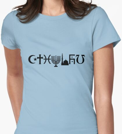 Cthulhu (black, sticker-friendly variant) Womens Fitted T-Shirt