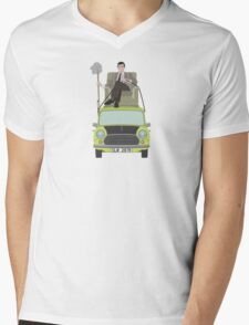 Mr Bean Mens V-Neck T-Shirt