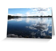 Cloudy Lake Greeting Card