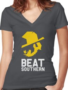 Beat Southern Women's Fitted V-Neck T-Shirt