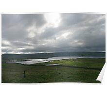 Light on the Land, Shetland Poster