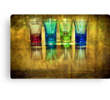 Four Vodka Glasses Canvas Print