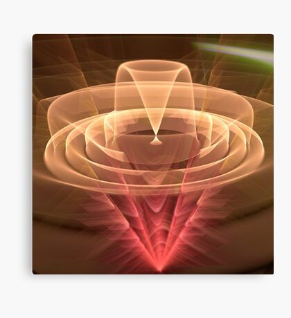 Abstract Motion, fractal abstract art Canvas Print